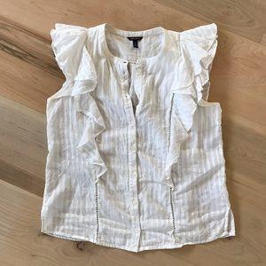 Karen Millen ruffled sleeveless blouse girly